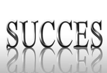 """Silver """"success"""" letters on a white background"""