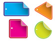 Glossy colorful sale tag for promotion of your shop items.