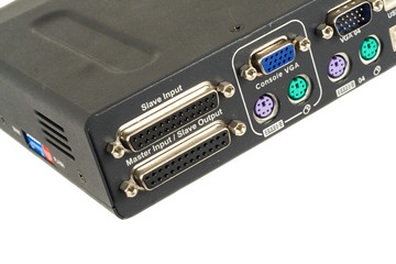 Backside view of KVM switch
