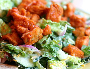 Salad with Buffalo Chicken