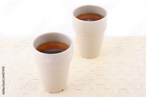 Two white mug isolated on a white background
