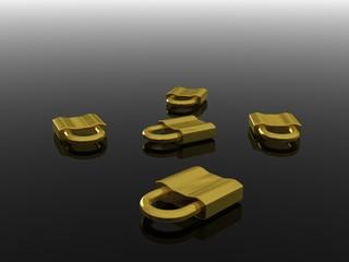 five gold locks