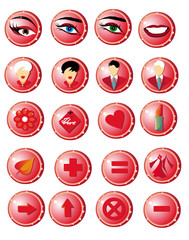 Button twenty for web. Lady club, love, acquaintance