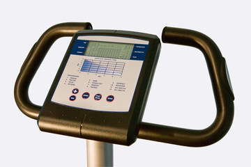 Control panel and handles of a training bike
