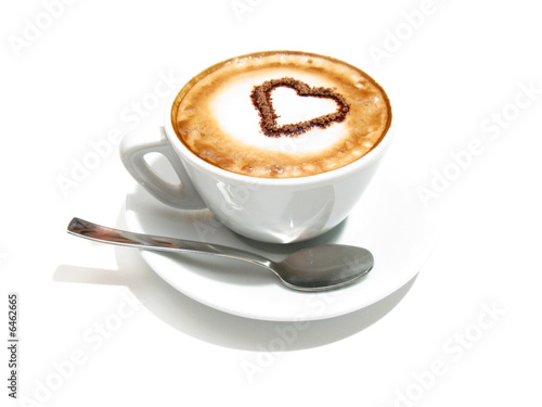 Foto op Canvas Koffie Cappuccino