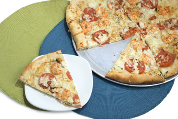 A Slice of Seafood Pizza