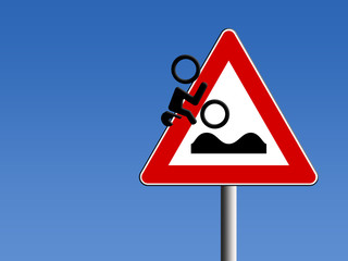 pericolo strada dissestata