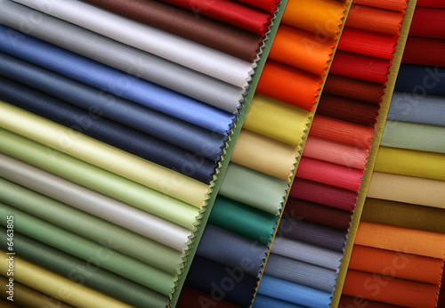 Color samples of a fabric in shop - 6463805
