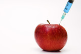 apple with syringe poster