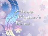 Congratulation on day of mother. A card. poster