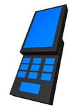 A handphone using the popular slide design poster