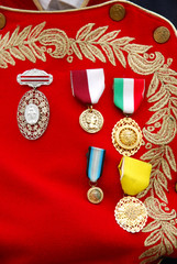 Mexican Army Officer campaign ribbons.