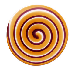 spiral on white background