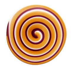 spiral on white background