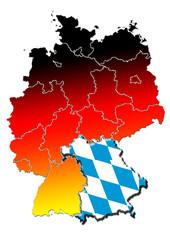 Deutschland Bayern Bundesland