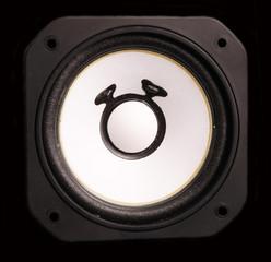 louspeaker driver unit with black background