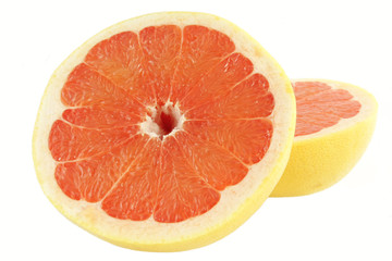 Grapefruit over white