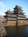 Matsumoto castle is one of the most beautiful castles in Japan. poster