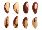 Brazil nut detail isolated on white background poster