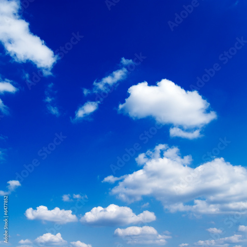 poster of blue sky and beautiful fluffy white clouds
