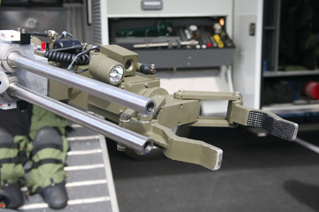 Military or police robot used to move or detonate bombs