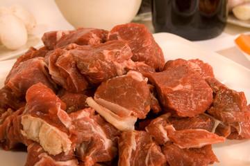 Preparing a Beef Casserole.