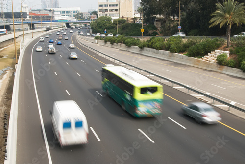 Traffic in motion blur