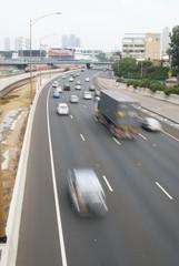 Traffic in motion blur