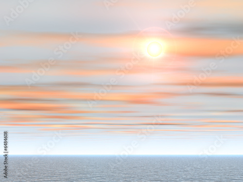 Tropical Sea Sunset Background