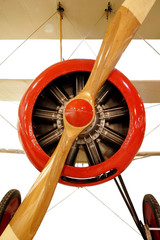 Vintage red aircraft