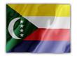 Fluttering image of the Comoros national flag.