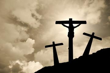 Jesus Christ crucified in Golgotha