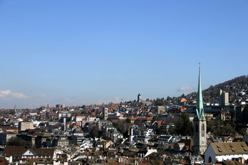 skyline of zurich, switzerland
