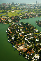 Aerial view of houses in Miami