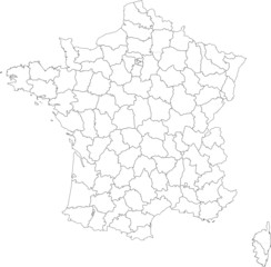 france en départements
