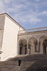 scalinata interna Montecassino