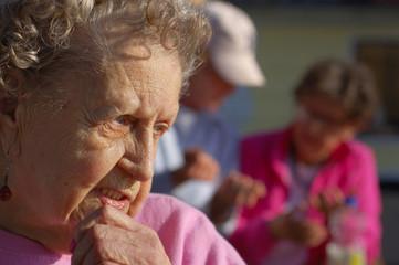 Contemplative Grandmother
