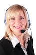 Middleaged woman with headset 3 - 6502654