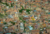 Background of houses, La Paz, Bolivia poster