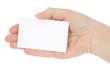 Hand whit a card