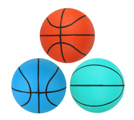 Basketballs isolated on white background