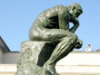 Statue du Penseur dans le jardin du Musée Rodin.