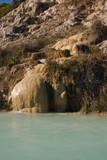 Thermal baths in Bagno Vignoni,Tuscany poster