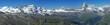 Hochgebirgspanorama hoch über Zermatt