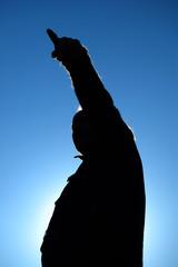 silhouete of a man