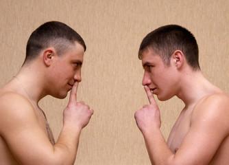 Two brave russian solder togerher