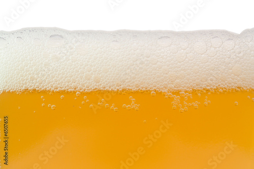 poster of unfiltered beer with foam