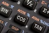keyboard of scientific calculator - detail poster