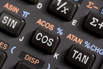 keyboard of scientific calculator - detail