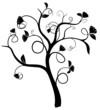 vecteur série - silhouette d'un arbre au printemps